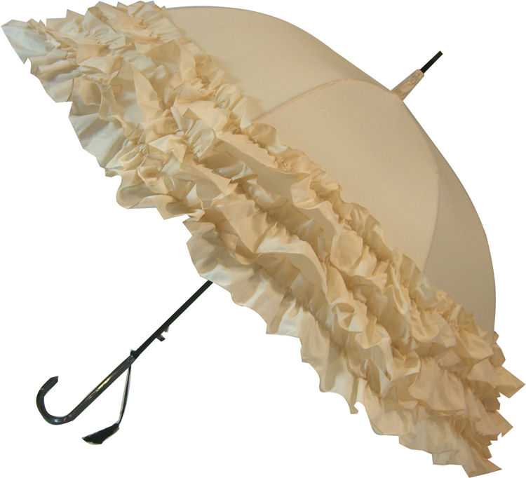 LuLu Frilly Cream Parasol