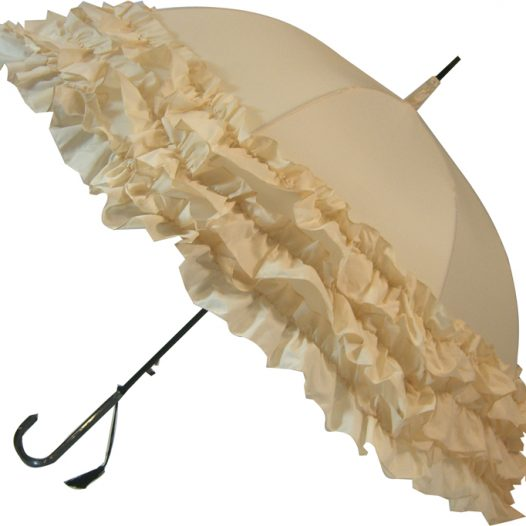 LuLu Wedding Parasol Collection - Triple Frill - Cream
