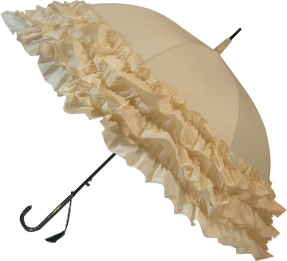 LuLu Wedding Parasol Collection - Triple Frill - Cream