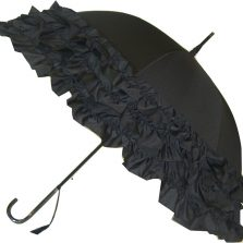 LuLu Frilly Black Umbrella Parasol