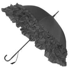 LuLu Frilly Grey Ruffle Umbrella / Parasol