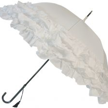 LuLu Frilly White Umbrella Parasol