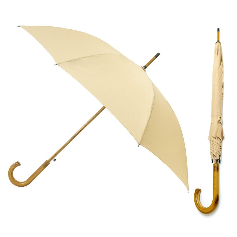 Beige walking umbrella