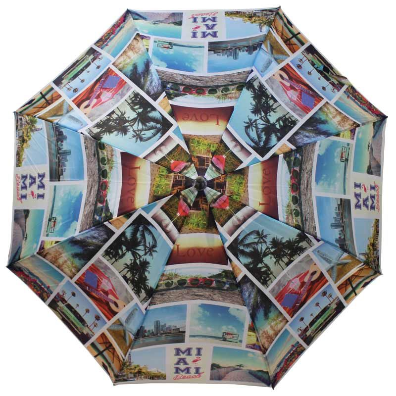 cityscape walking umbrella