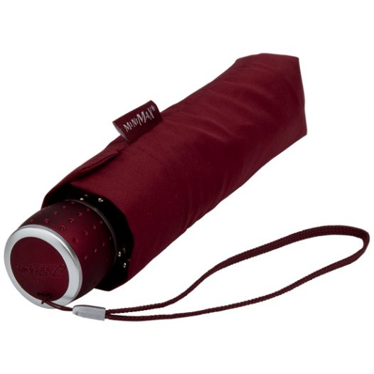 MiniMax - Maroon Folding Umbrella - Travel Umbrella