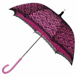 Modern Victorian Lace Umbrella - Pink