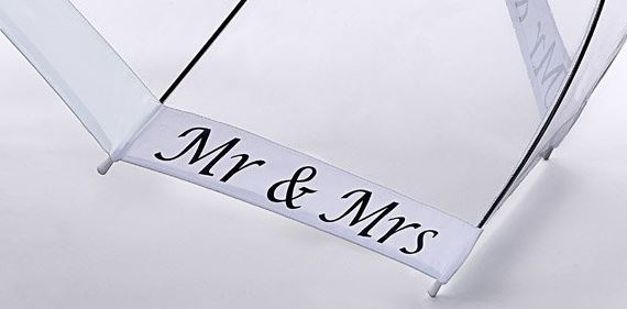 Mr and Mrs birdcage dome umbrella