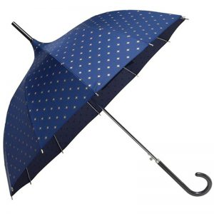 navy gold star pagoda umbrella