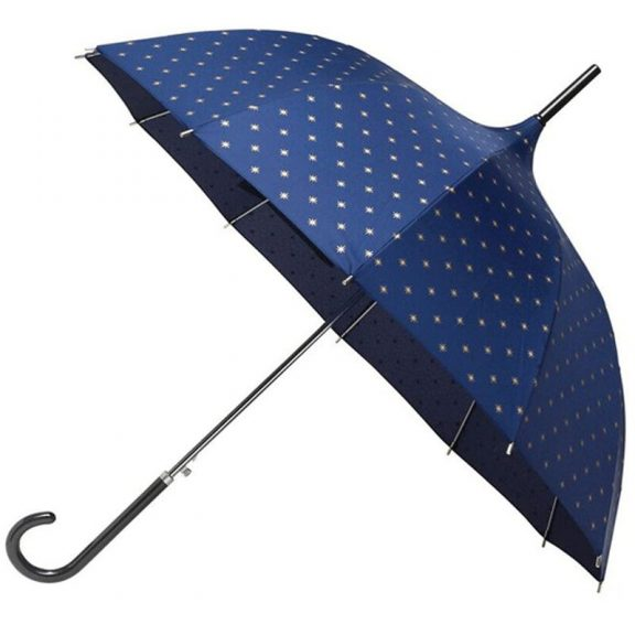navy gold star pagoda elegant umbrella