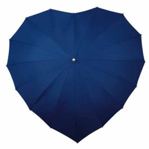 Heart Umbrella - Dark Blue