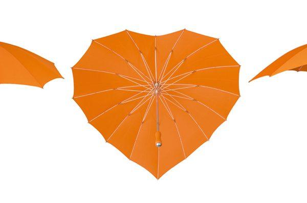 heart umbrella orange