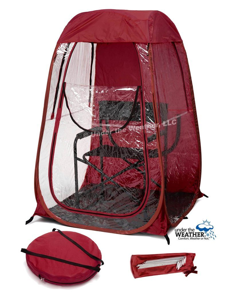 under the weather shelter cutout maroon