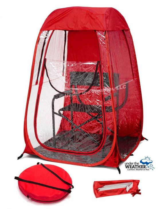 under the weather shelter cutout red