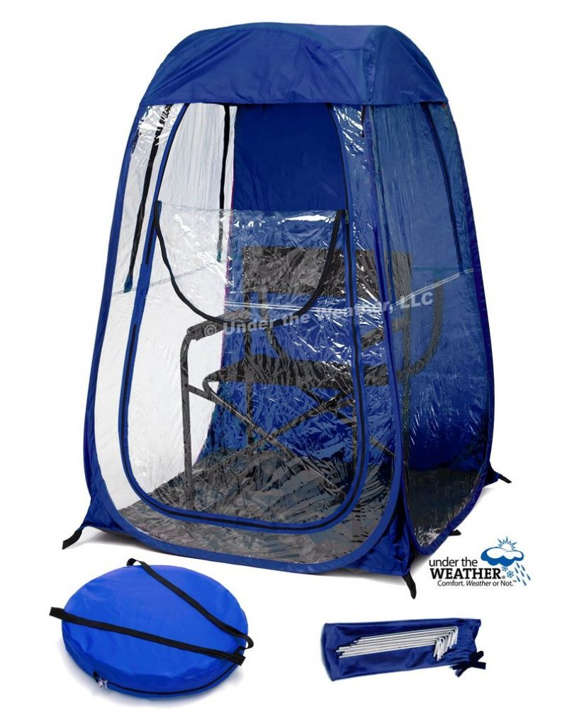 under the weather shelter cutout royal blue