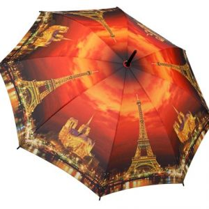 City Collection - Paris - City Of Lights Full Length Umbrella