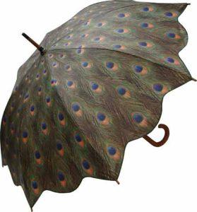 peacock umbrella open
