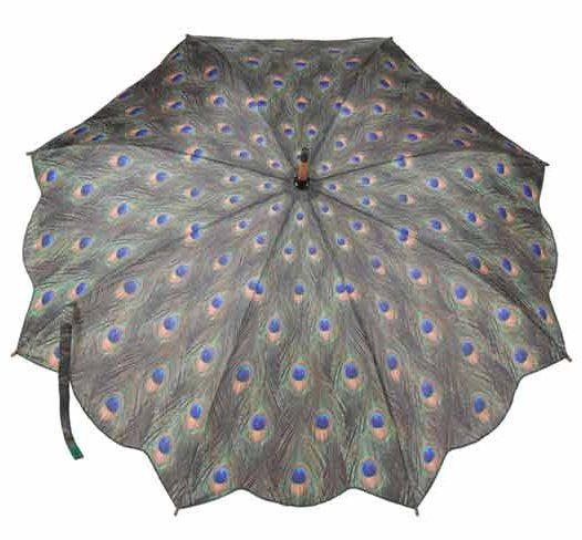 Peacock Print Umbrella