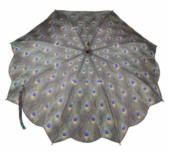 Peacock Print Umbrella Umbrellas Amp More From Umbrella Heaven