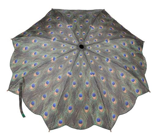 Folding Compact Peacock Umbrella