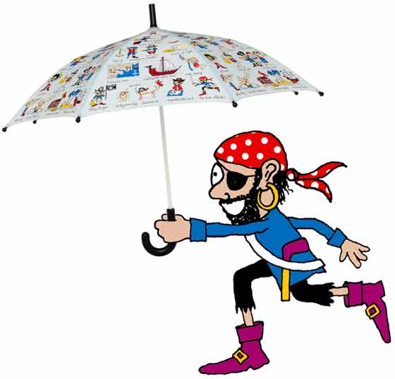boys umbrellas pirate umbrella open