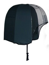Helmet Shaped Panoramic Umbrella - Green/ Clear