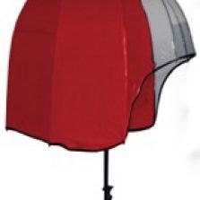 Helmet Shaped Panoramic Umbrella - Red/ Clear