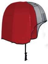Helmet Shaped Panoramic Umbrella - Red/ Clear