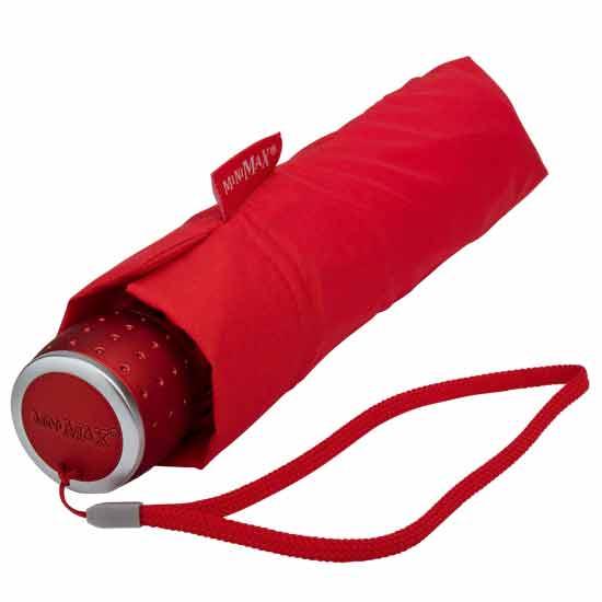 Red Travel Umbrella Minimax Folding Umbrella Umbrella Heaven