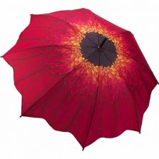 Red Daisy - Full Length Umbrella