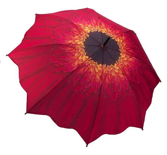 Red Daisy - Full Length Umbrella