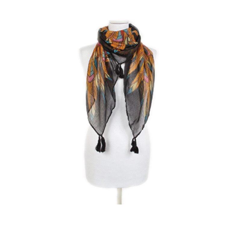 ria rossini rochester designer scarf black