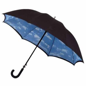Double Canopy Long Sky Umbrella - Cloud Design