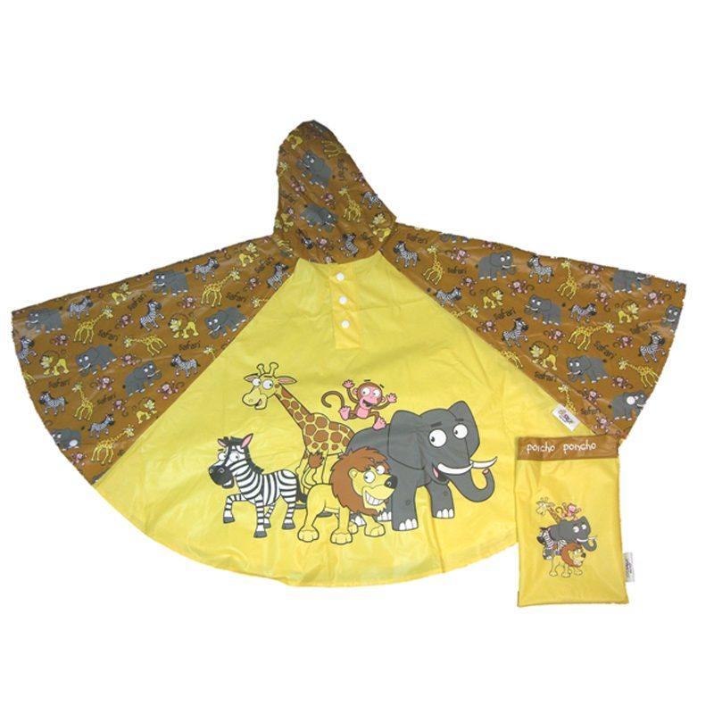 Childrens rain poncho