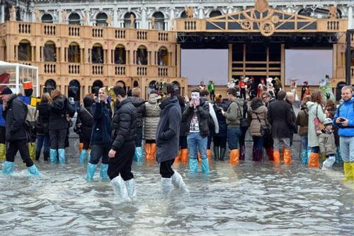 waterproof shoe covers in use