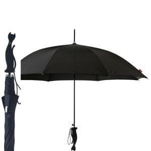 diamante black cat silhouette umbrella cutout