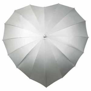Heart Umbrella Silver