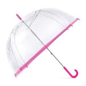 Clear Slim Trim Umbrella - Pink