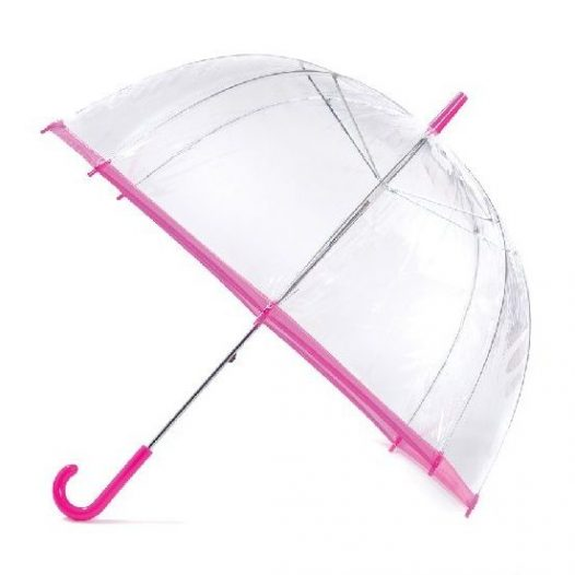 Clear Pink Umbrella / Slim Trim Umbrella - Pink