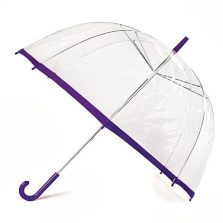 Clear Slim Trim Umbrella - Purple