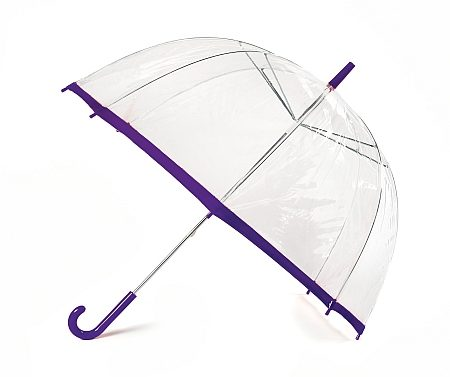 Clear Slim Trim Umbrella - Purple