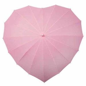 Heart Shaped Umbrella - Soft Pink
