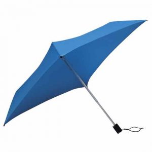 All Square Bright Blue Compact Umbrella
