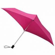 All Square Hot Pink Compact Umbrella / pink square umbrella