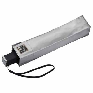 Compact Square UV Travel Umbrella - Silver