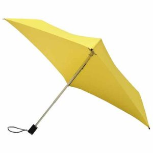 Compact Yellow Square Umbrella