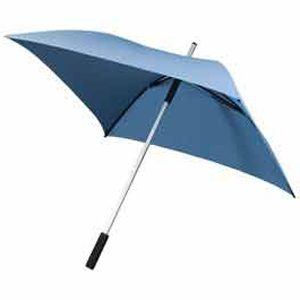Blue Square Umbrella - Pale Blue