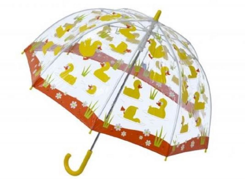 DUCKS PVC Kids Umbrella closer opened view