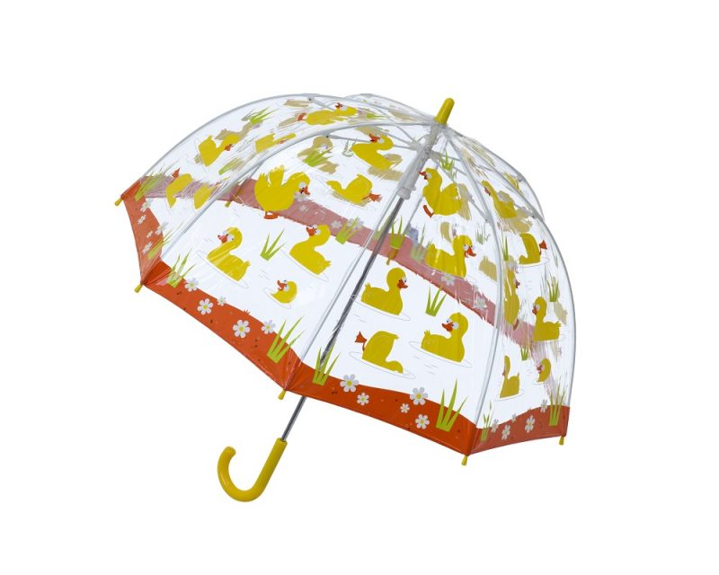 DUCKS PVC Kids Umbrella opened side view