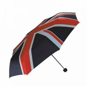 Union Jack Compact Telescopic Umbrella