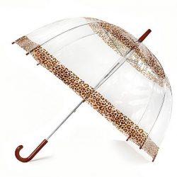 Clear Ladies Dome Umbrella - Ocelot